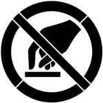 SZABLONERIA Szablon z tworzywa do malowania Znak zakazu Nie dotykać 15x15 cm