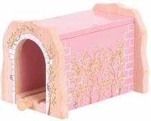 Tunel kolejowy różowy magiczny