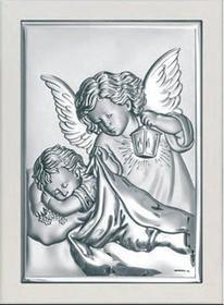 Beltrami Obrazek Anioł Stróż w białej oprawie - (BC#6325W)