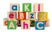 Kolorowe Baloniki Drewniane KLOCKI-kostki - Kolorowy alfabet małe i duże litery 794813
