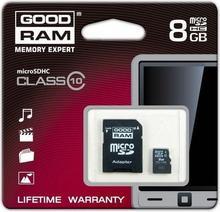 Goodram microSDHC 8GB Class 10 + adapter