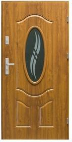 Splendoor Drzwi zewnętrzne stalowe  Apis 90 prawe złoty dąb