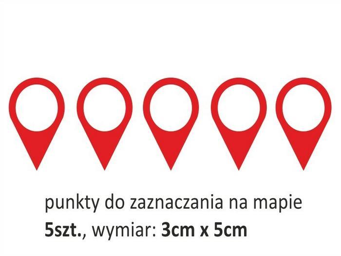 Naklej-to.pl Mapa świata 3  kółka naklejka na ścianę