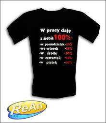 ŚmieSzne Koszulki W Pracy Daję Z Siebie 100%