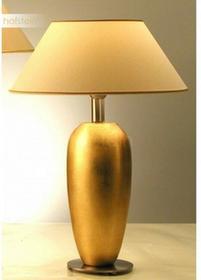 Hollander Holländer THETA OVAL lampa stołowa Biały, Złoty, 1-punktowy