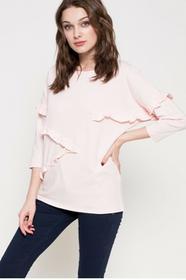 ANSWEAR Bluzka WS17.BUD019 pastelowy różowy