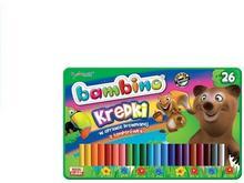 Bambino Kredki 26 kolorów + Temperówka