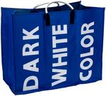 Kosz na pranie. 3 komory - torba XXL - niebieski CM5211120