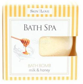 Skin LoveSkinLove Bath Spa Bath Bomb Milk & Honey - kula do kąpieli musująca do kąpiel