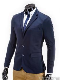 Ombre Clothing Marynarka M53 - GRANATOWA