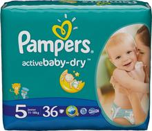 Pampers Active Baby-Dry 5 Junior 36 szt.