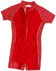 PLAYSHOES Jednoczęsciowy strój kąpielowy kolor czerwony, kropki 461031_1
