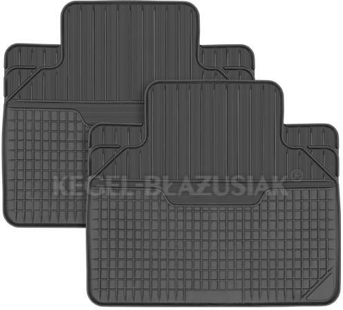 Kegel-Błażusiak pokrowce Dywaniki samochodowe MULTIPASSFORM tylne czarne