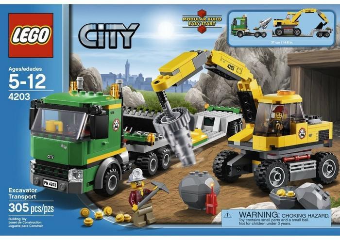LEGO City Koparka z transportem 4203