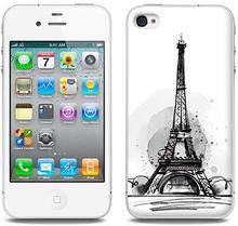 Etuo.pl Fantastic Case - Apple iPhone 4/4 S - etui na telefon Fantastic Case - szkic wieży eiffla ETAP008FNTCFC103000