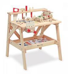 Melissa&Doug Duży warsztat drewniany i zestaw konstrukcyjny 2 w 1 12369
