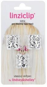 Linziclip Mini Hair Clip 1szt W Spinka do włosów Silver Metallic Floral 65185