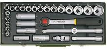 """Proxxon Zestaw kluczy nasadowych 1,2"""" 8 34mm 29części 23000"""