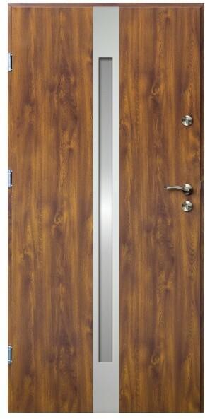 O.K.Doors Drzwi zewnętrzne  Otto II 90 lewe złoty dąb