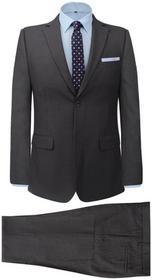 e79a40466ea5b vidaXL 2-częściowy garnitur biznesowy męski szary w paski rozmiar 46 –  ceny, dane techniczne, opinie na SKAPIEC.pl