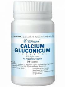 Farmapol ZAKŁAD CHEMICZNO-FARMACEUTYCZNY SP. Z O.O. Calcium Gluconicum 45 mg 50