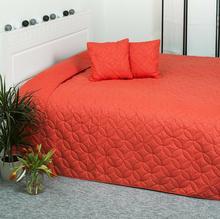 4Home Narzuta na łóżko Mariposa pomarańczowy, 220x240 cm, 40 x 40 cm