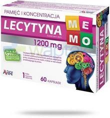 AVEC PHARMA SP. Z O.O. Lecytyna Memo 1200 pamięć i koncentracja 60 kapsułek 8906801