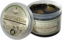 Pierwoje Reszenie Babuszka Agafia Ziołowe czarne Mydło w kostce do mycia ciała oraz włosów 500ml