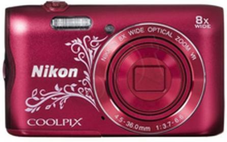 NikonCoolpix A300 czerwony z ornamentem