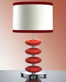 Elstead Lighting Lampa stołowa LUIS COLLECTION LUI/ONYX RED + LUI/LS1139 -