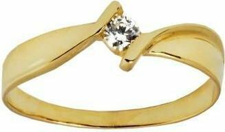 Rubicello złoto pierścionek z cyrkonia - P140