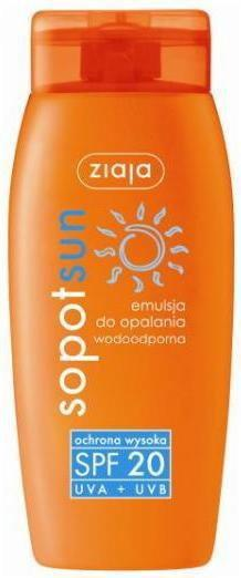 Ziaja Sopot Sun emulsja do opalania wodoodporna SPF20+ 150ml