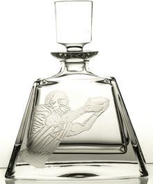 Crystal Julia Karafka do whisky szklanki 6 sztuk grawer American football 11084)