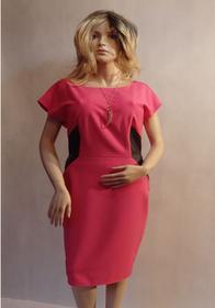 MaximoModa Sukienka wyszczuplająca z wstawkami XL RO0028