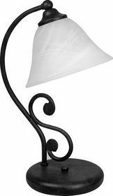Rabalux klasyczna Lampa stołowa ART DECO DOROTHEA 7772 IP20 Czarny biały