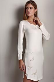 Luisa Moretti Bambusowa koszula nocna damska VERONA L Kremowy LM_2021