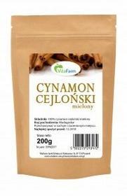 Vitafarm Cynamon cejloński mielony 200g Vitafarm ED57-157ED
