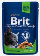 Brit Cat Sterilised KURCZAK 100g