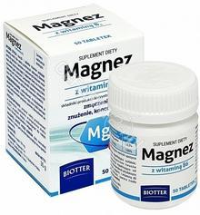 Biotter Magnez z witaminą b6 x 50 tabl