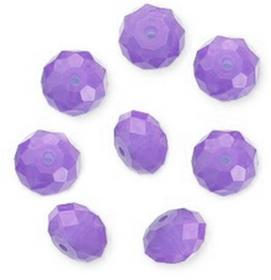 Koraliki Rondelle kryształ kfr52 faset 10szt 6/4mm L.Purple Opal