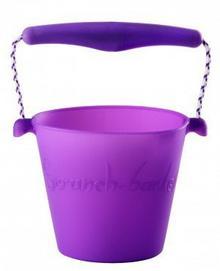 Scrunch Bucket zabawki do piaskownicy silikonowe fioletowe FW38056
