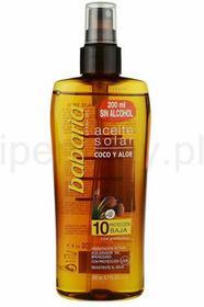 Babaria Sun Aceite Solar olejek do opalania SPF10+ Oil Coconut and Aloe Vera 200ml