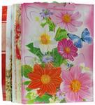 Torebki Ozdobne lakierowane XL 45cm x 32cm kwiaty 12 szt.