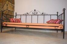 Lak System Łóżka metalowe Łóżko metalowe do sypialni 120x200 WZÓR 15 120