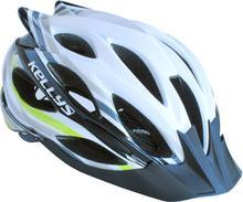 Kellys Kask rowerowy DYNAMIC white-green