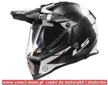 LS2 MX436 Pioneer Black White Titanium XXL AK23987
