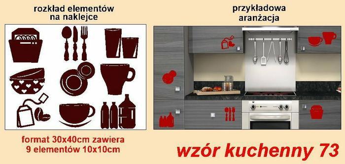 Naklejka wzór kuchenny 73