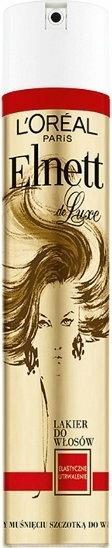 Loreal de Luxe Elnett Lakier do włosów, Elastyczne utrwalenie 250ml