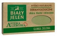 Pollena Mydło dermatologiczne z zieloną glinką 125 g