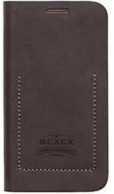 Zenus Tesoro Diary Echtleder-Klapptasche für Samsung Galaxy S6 schwarz/braun
